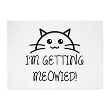 I'm Getting Meowied 5'x7'Area Rug