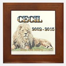 Cecil The Lion Framed Tile