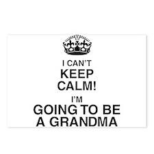 i cant keep calm im going to be a grandma Postcard
