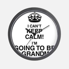 i cant keep calm im going to be a grandma Wall Clo