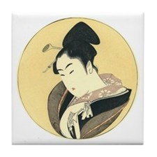 Japanese Wood Cut Tile Coaster