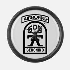509th Infantry Airborne stencil Large Wall Clock