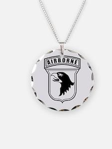 101st Airborne stencil Necklace