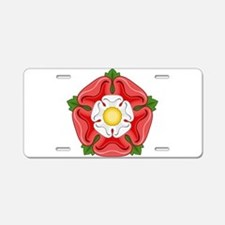 Tudor Rose Aluminum License Plate