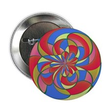 """Geometric distortion 2.25"""" Button (10 pack)"""