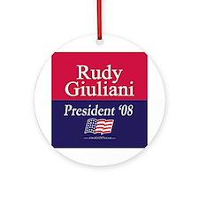 """Rudy Giuliani for President"" Ornament (Round)"