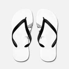 Jessica name in Hebrew letters Flip Flops