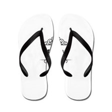 Janice name in Hebrew letters Flip Flops