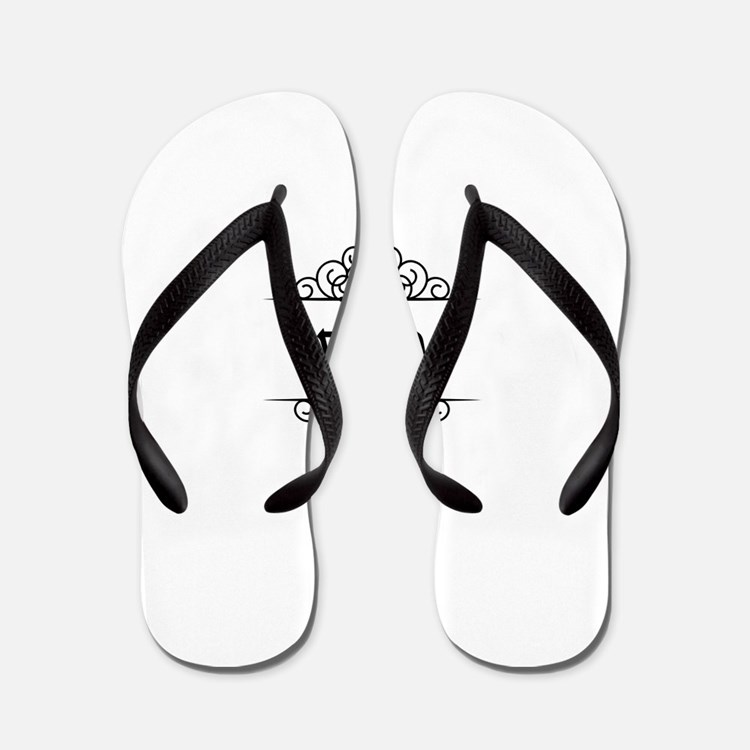 Janice name in Hebrew letters Flip Flops