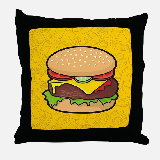 Cheeseburger Throw Pillow