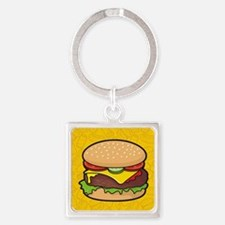 Cheeseburger Square Keychain
