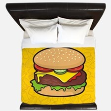 Cheeseburger King Duvet