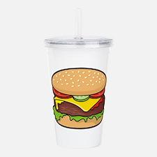 Cheeseburger Acrylic Double-wall Tumbler