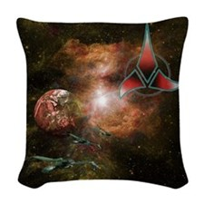 Klingon Home World Woven Throw Pillow