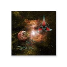 "Klingon Home World Square Sticker 3"" x 3"""