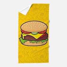 Cheeseburger Beach Towel