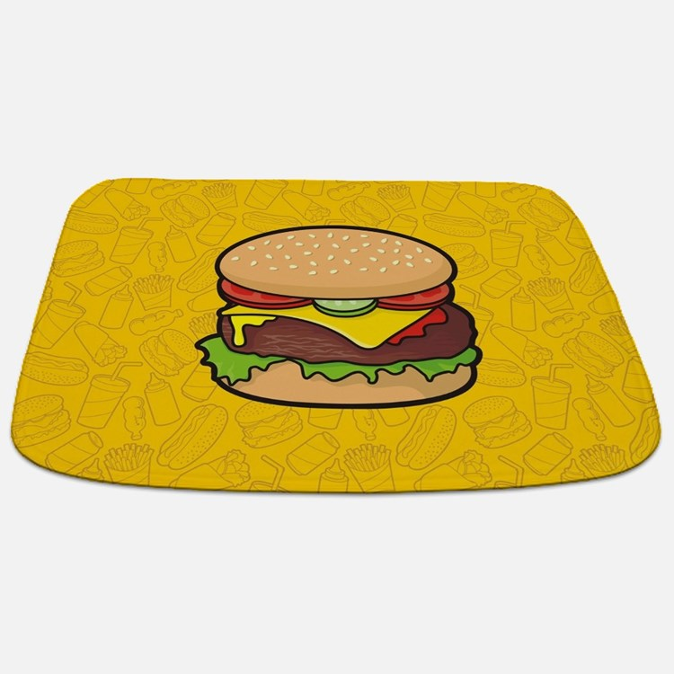 Cheeseburger Bathmat