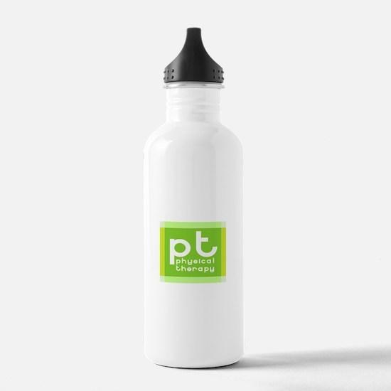 3-PT-curvyfont-dark2.p Water Bottle