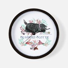 Seashore Scottie Island Dog Wall Clock