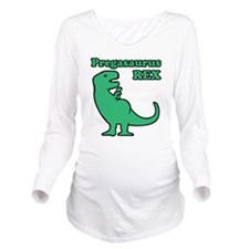 T-rex With Child Long Sleeve Maternity T-Shirt