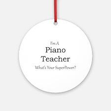 Piano Teacher Round Ornament