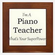 Piano Teacher Framed Tile