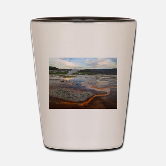 yellowstone national park Shot Glass