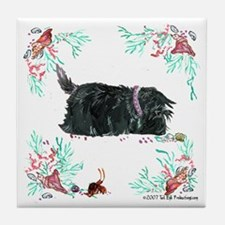 Seashore Scottie Island Dog Tile Coaster