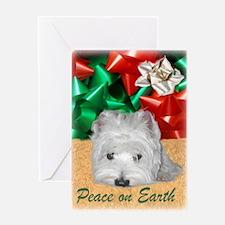 Westie Yule Greeting Card