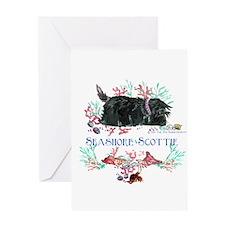 Seashore Scottie Island Dog Greeting Card