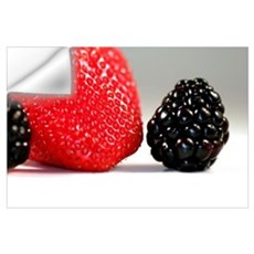 Strawberry Blackberry Wall Decal