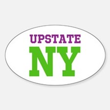 UPSTATE NEW YORK (ATHLETIC) Sticker (Oval)