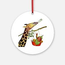 GIRAFFE & BABY Ornament (Round)