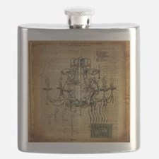 french scripts vintage chandelier Flask