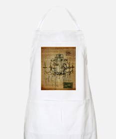 french scripts vintage chandelier Apron