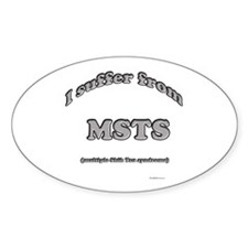 Shih Tzu Syndrome Oval Decal