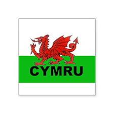 "Cute Wales Square Sticker 3"" x 3"""