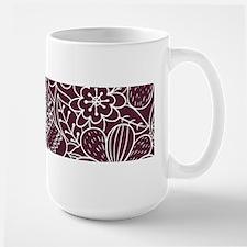 Hand Drawn Flower Outline Pattern Mug