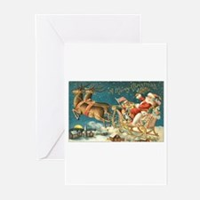 Santa in Sleigh Greeting Cards (Pk of 20)