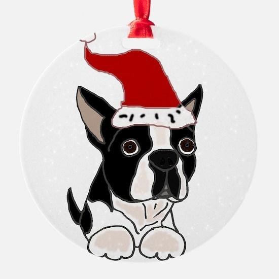 Boston Terrier Dog Christmas Ornament