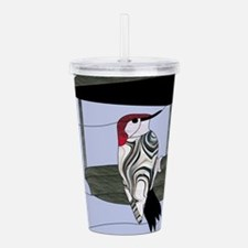 Red Bellied Woodpecker Acrylic Double-wall Tumbler