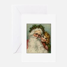 Victorian Santa Claus Greeting Cards (Pk of 10)