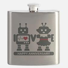 LV - Robots - Anniversary Flask