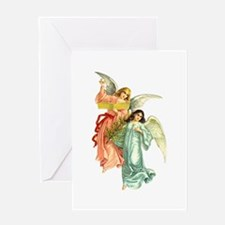Victorian Christmas Angels Greeting Card