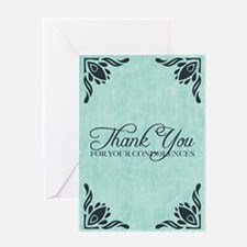 thank you for your condolences Greeting Cards