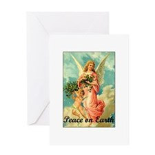 Peace On Earth - Angel Greeting Card