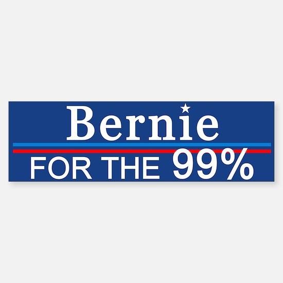 Bernie For The 99% Bumper Bumper Bumper Sticker