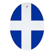 Greece Flag Oval Ornament