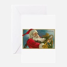 Victorian Santa Claus Deliver Greeting Card