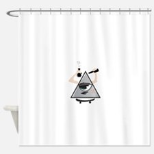 All Seeing Skter Shower Curtain